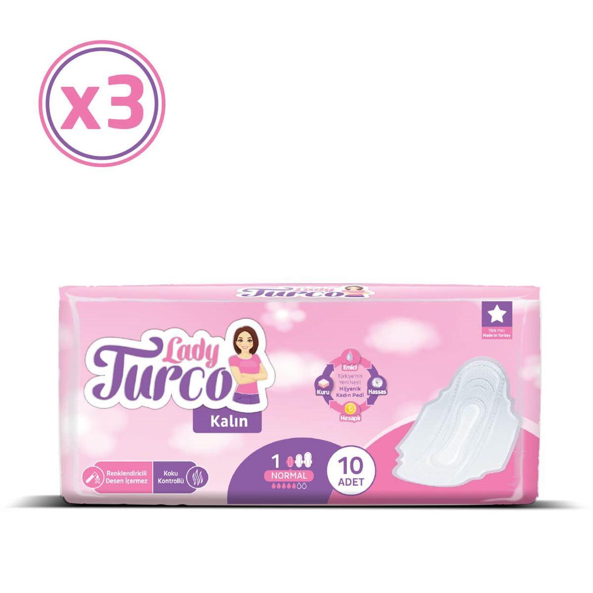 Lady Turco Kalın Normal 3X10 Ped