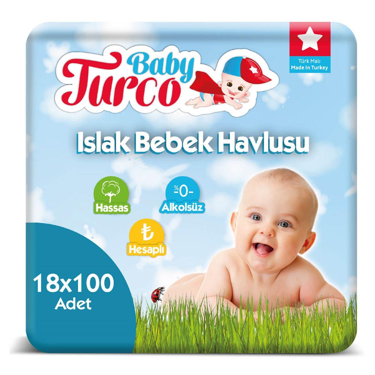 Baby Turco Islak Havlu 18X100'lü