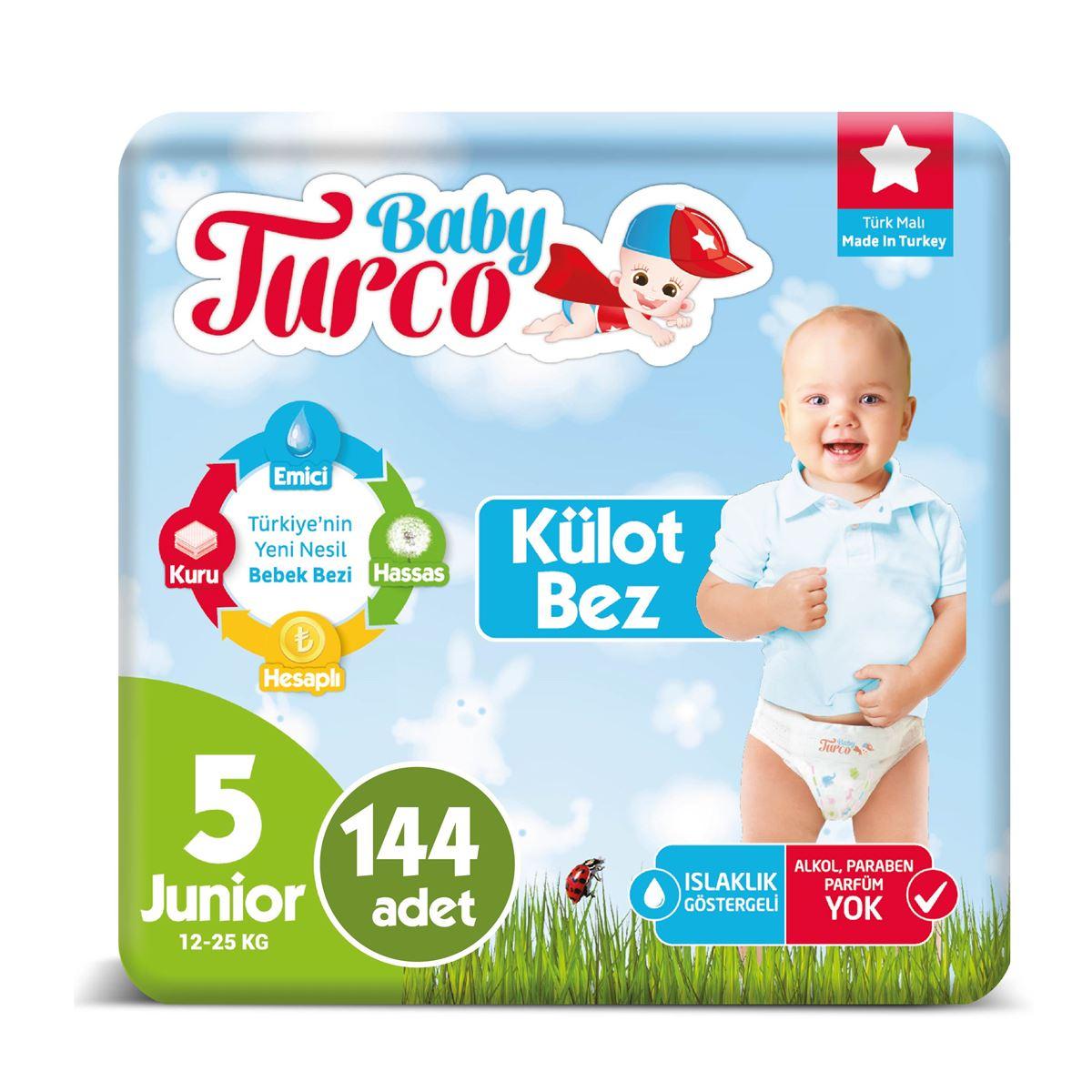 Baby Turco Külot Bez 5 Numara Junıor 144 Adet