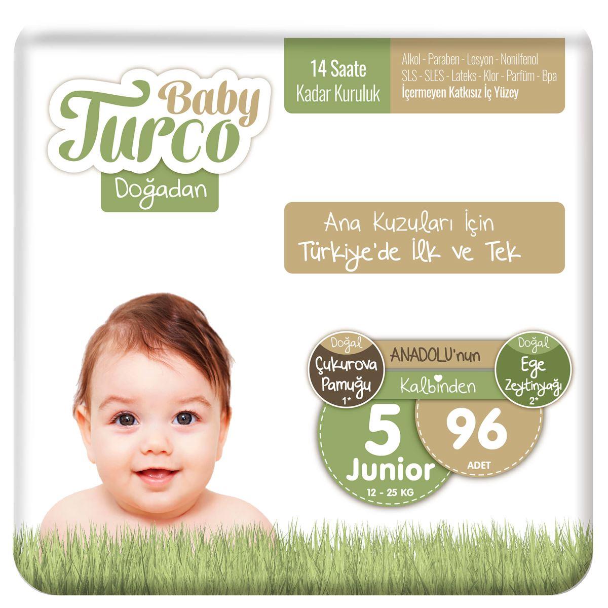 Baby Turco Doğadan 5 Numara Junıor 96 Adet