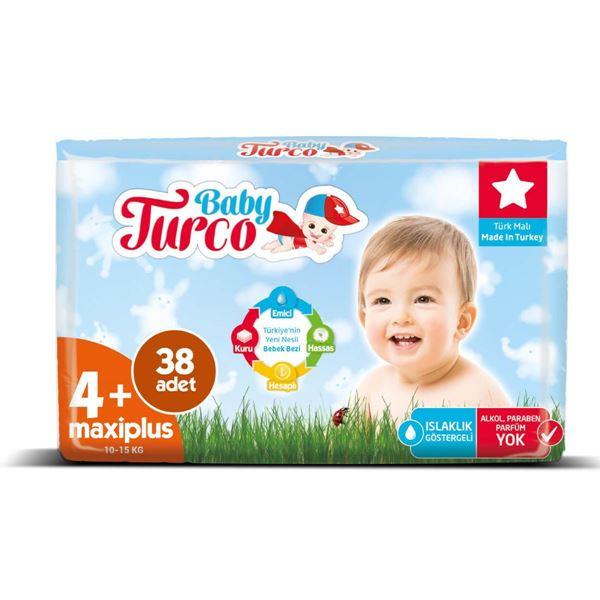 Baby Turco Bebek Bezi 4+ Numara Maxi Plus 38 Adet