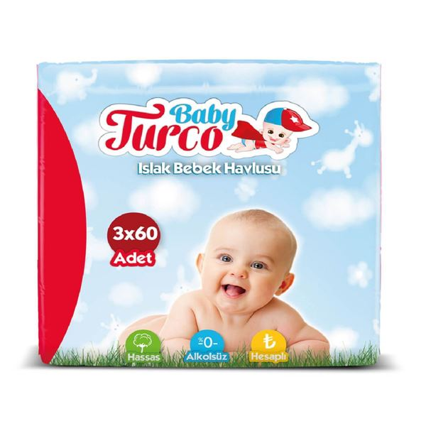 Baby Turco Islak Havlu 3X60