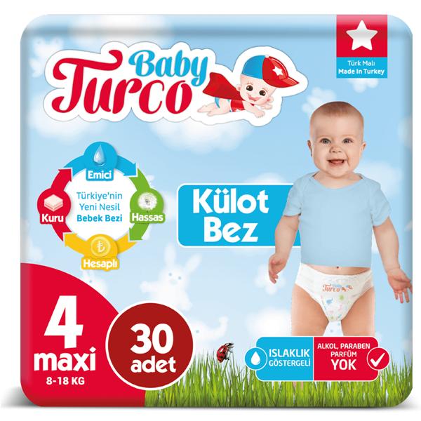Baby Turco Külot Bez 4 Numara Maxi 30 Adet