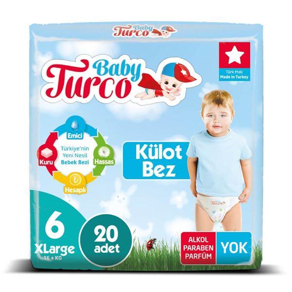 Baby Turco Külot Bez 6 Numara Xlarge 20 Adet