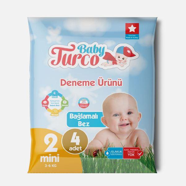 Baby Turco Bebek Bezi 2 Numara Mini Deneme Ürünü