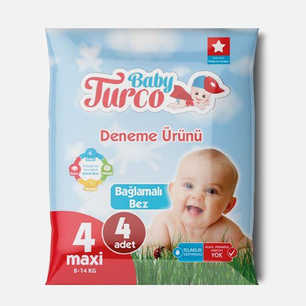 Baby Turco Bebek Bezi 4 Numara Maxi Deneme Ürünü