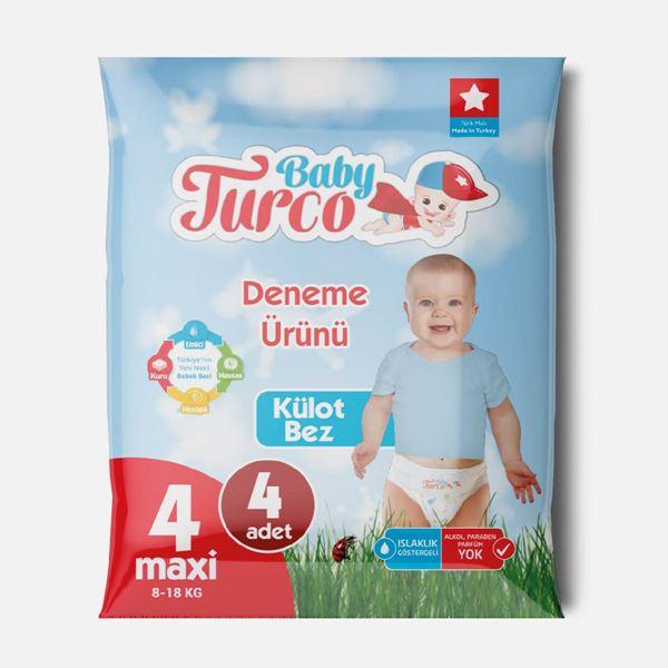 Baby Turco Külot Bez 4 Numara Maxi Deneme Ürünü