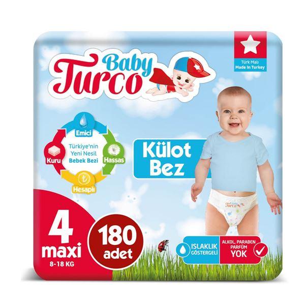 Baby Turco Külot Bez 4 Numara Maxi 180 Adet
