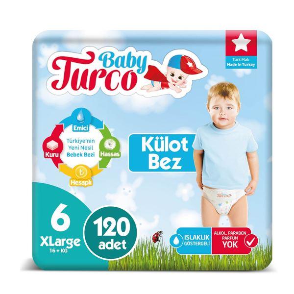 Baby Turco Külot Bez 6 Numara Xlarge 120 Adet