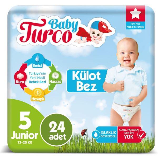 Baby Turco Külot Bez 5 Numara Junıor 24 Adet Ped Hediyeli
