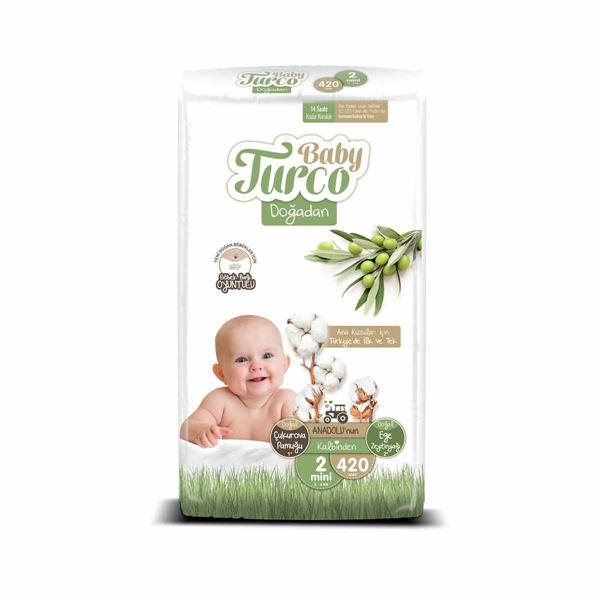 Baby Turco Doğadan 2 Numara Mini 420 Adet