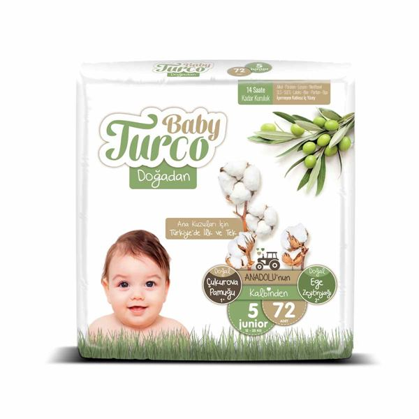 Baby Turco Doğadan 5 Numara Junıor 72 Adet