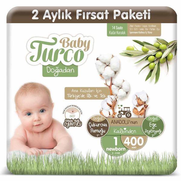 Baby Turco Doğadan 1 Numara Newborn 400 Adet