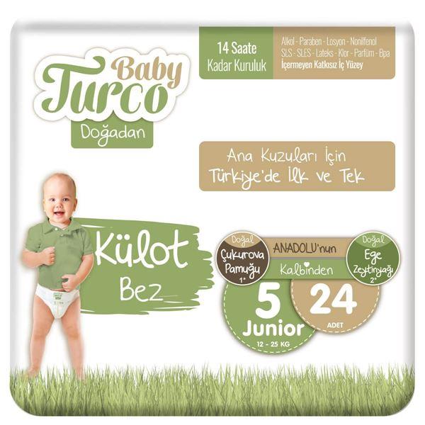 Baby Turco Doğadan Külot Bez 5 Numara Junıor 24 Adet