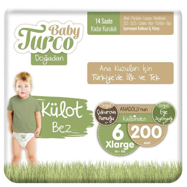 Baby Turco Doğadan Külot Bez 6 Numara Xlarge 200 Adet