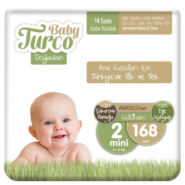 Baby Turco Doğadan 2 Numara Mini 168 Adet