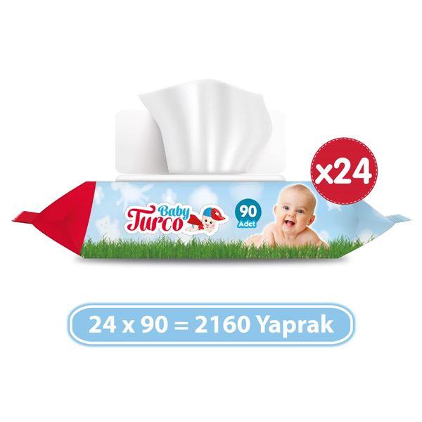 Baby Turco Islak Havlu 24x90'lı